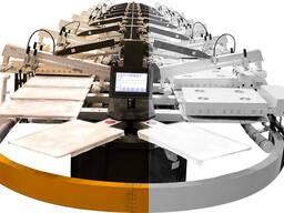 Автоматический овальный печатный станок ( Шелкография) HJD