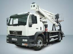 Автовышка телескопическая MAN CLA 18. 280 4x2 BB 30 метров