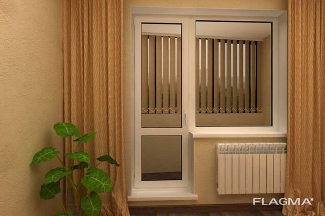 Балконный блок из алюминий и ПВХ