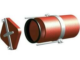 Безраструбная заглушка с прижимными скобами 125 мм S-SML ГОС
