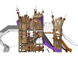 Детские игровые комплексы площадки для элитных ЖК Romana