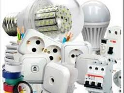 Электротовары (кабель, автоматы, прожекторы, лампы)