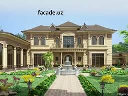 Фасад дома в ташкенте