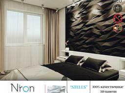Dekorativ 3D gips panellari. 3Д панели из гипса для дизайна интерьера и декора стен