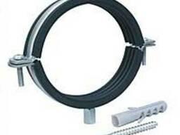Хомут стальной с резиновым уплотнителем в комплекте