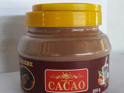 Какао Порошок в Пласт Банке по 300 гр 24 банок в коробке