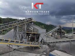 Камнедробильный завод с производительностью 100 тонн/час