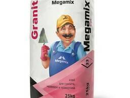 Клей для гранита, мрамора и травертина Megamix 25кг.