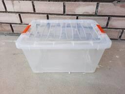 Контейнер для хранения пластиковый 60 л, размер 60*43*33см