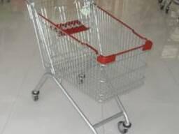 Корзина покупательская на колесиках