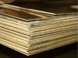 Латунные пластины 0. 1 мм ЛО62 ГОСТ 2208-2007