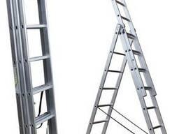 Лестницы алюминиевые трехсекционные