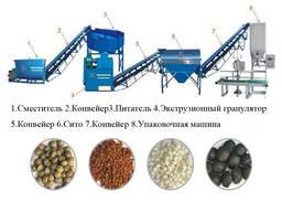 Линия гранулирования помета, навоза, сапропеля, отходов