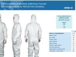 Медицинские маски, комбинезоны и т. д. (описание) Турция
