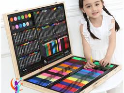 Набор для Рисования в деревянном чемоданчике 251 предметов Art Set.