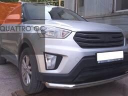 Обвес или труба из нержавеющей стали для Грета (Hyundai Creta)