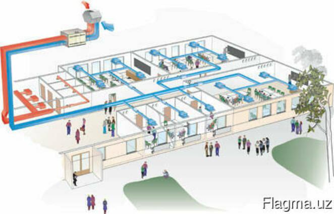 Система охлаждения воздуха промышленных помещений