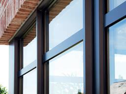 Остекление окнами с алюминиевым профилем