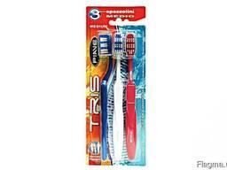 Зубная щёткаPIAVE Tris medium toothbrushes 3 pcs