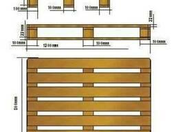 Поддоны (палет) деревянные раз. 1400х800, 1000х1200, в асс. - фото 3