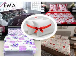 Постельное белье 2 подушки в подарок !