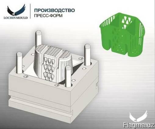 Пресс-форма - подставка для хранения ложек и вилок
