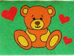 Развивающая игра - цветной песок для детей