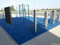 Резиновые плиты, покрытие для детских площадок и спорт залов