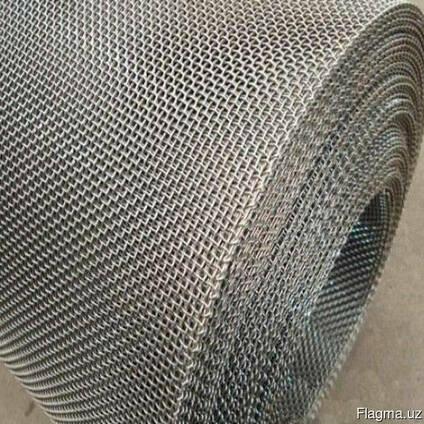 Рифленая нержавеющая сетка 20x20x1.6 мм 12Х18Н10Т ГОСТ 3826-