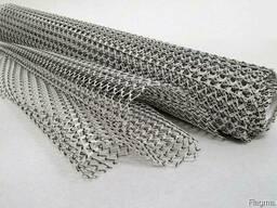 Рифленая нержавеющая сетка 5x5x1 мм 12Х18Н10Т ГОСТ 3826-82