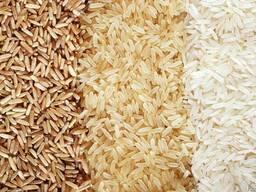 Рис в ассортименте круглозерный, длинозерный, пропаренный