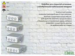 Серия разветвительных коробок для открытого монтажа КР-2501,