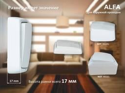 Серия розеток выключателей ALFA открытой установки от HEGEL