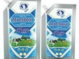 Сгущенное молоко в упаковке дойпак по 500 гр.