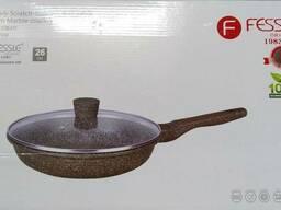Сковорода 22см с антипригарным стеклянной крышкой