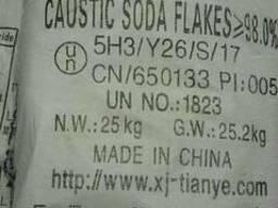 Сода каустическая чешуированная 98%