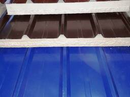 Стеновая сэндвич-панель с базальтовым утеплителем