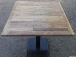 Стол деревянный с металлической ножкой (утяжелённая)