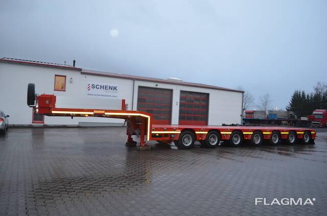 Трал низкорамный 7 осей новый Германия 100 тонн