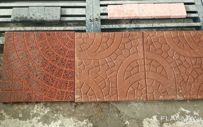 Тротуарная плитка, размер 40х40 см, толщина 3 см, брусчатка