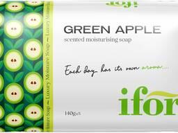 Твёрдое туалетное мыло IFOR Green Apple 140 g