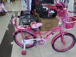 Детский велосипед Princess Принцесса 20 размер с боковыми колесами