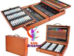 Wooden box - Набор для рисования 174 предметов.