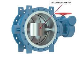 Затворы дисковые поворотные чугунные с двойным эксцентрисите